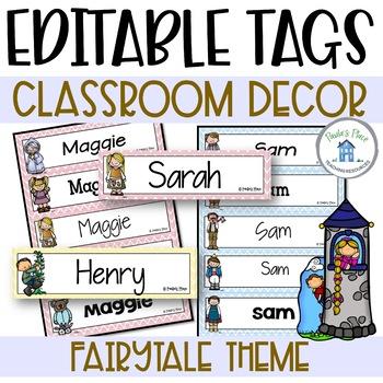 Editable Name Tags Fairy Tale Theme