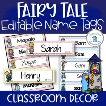 Editable Name Tags - Fairy Tale Theme
