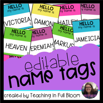 Editable Name Tags - Fits Target Adhesive Squares