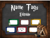 Editable Name Tags: Harry Potter Inspired