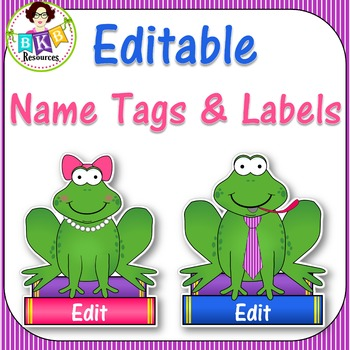 Editable Name Tags & Labels - His and Her Frogs!