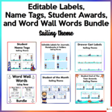 Editable Name Tags, Labels, Student Awards,Word Wall Words