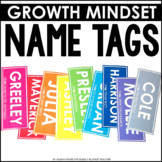 Editable Name Tags Locker Tags Growth Mindset