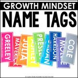 Editable Name Tags Locker Tags Growth Mindset