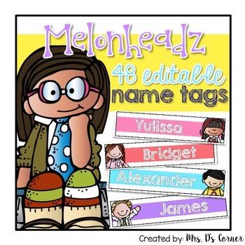 Editable Name Tags { Melonheadz Theme }