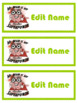 """Editable Name Tags """"My Brain Is My Superpower"""""""