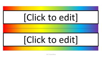 Editable Name Tags - Noah's Rainbow