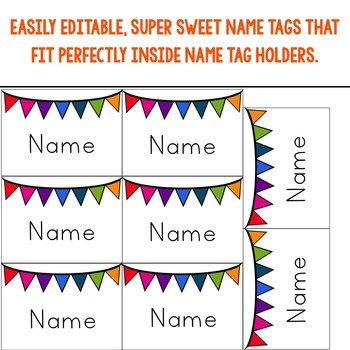 Editable Name Tags ... Perfect for back to school , sub plans , guests , & more!