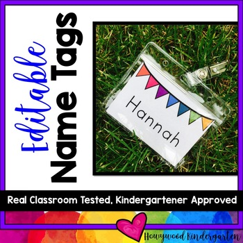 Editable Name Tags! Perfect for back to school, sub plans,