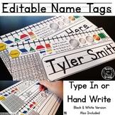 Editable Name Tags {Primary} Name Plates, Desk Plates