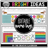 Editable Name Tags {Primary and Intermediate Grades}