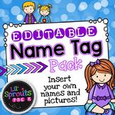 Editable Name Tags - Printable Name Tag Pack