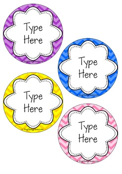 Editable Name Tags ~ Rainbow Chevron