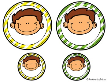 Editable Name Tags/Labels- Rainbow Stripes with Multicultural Kids