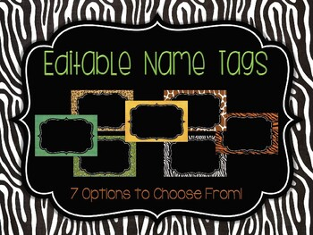 Editable Name Tags: Rumble in the Jungle