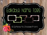 Editable Name Tags: Rustic Cottage
