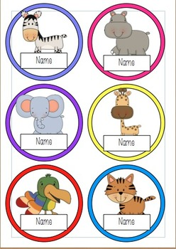Editable Name Tags Safari Theme Display