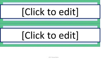 Editable Name Tags - Sea Foam Diagonal Stripes