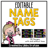 Editable Name Tags - Sketchy Dots