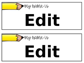 Editable Name Tags   Target Adhesive Pocket Labels   Back to School