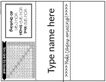Editable Name Tags Tent Name Tags