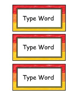 "Editable Name Tags, Word Wall, & Classroom Signs, ""Red"""