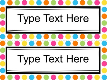 Editable Name Tags and Desk Labels - Classroom Organization