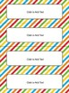 Editable Name Tags and Desk Plates in Primary Colors