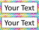 Editable Name Tags and Labels