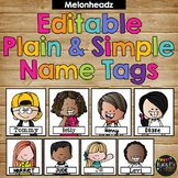 Editable Name Tags and Labels Melonheadz Plain and Simple {168 Kids}
