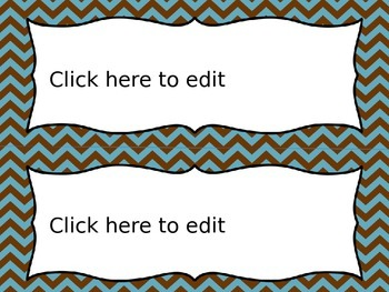 Editable Name Tags and Labels with Blue and Brown Themes
