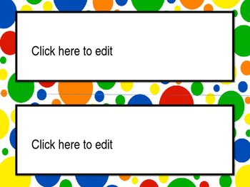 Editable Name Tags and Labels with Primary Color Patterns Backgrounds