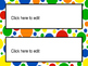Editable Name Tags and Labels with Primary Color Patterns