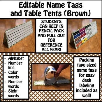 Name Tags (Brown)