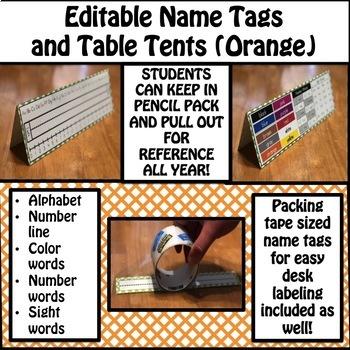 Name Tags (Orange)