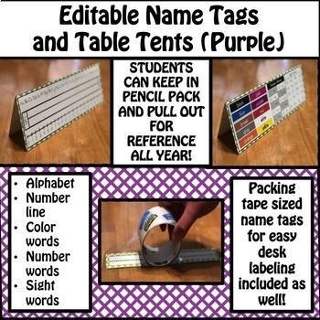 Name Tags (Purple)