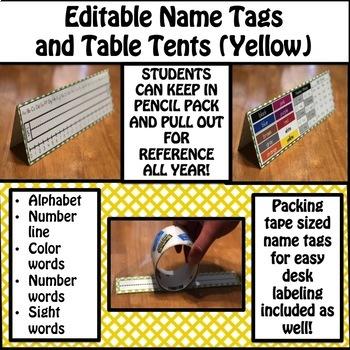Name Tags (Yellow)