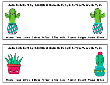 Name Tags for Desks (Editable): Cactus Theme
