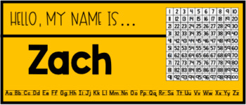 Editable Name Tags for Primary Students