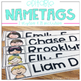 Editable Name Tags for Students