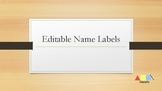 Editable Name Tags or Labels
