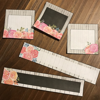 Editable Name Tags or Labels (Floral and Shiplap)
