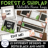 Editable Name Tags or Labels (Forest and Shiplap)