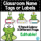 Editable Name Tags or Labels Frog