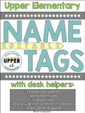 Editable Name Tags with Desk Helpers for Upper Grades