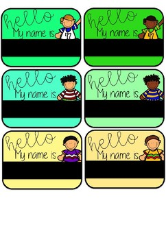 Editable Name Tags with clipart!