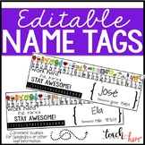 Editable Name Tags with password information, number line