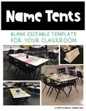 Editable Name Tent Template FREEBIE