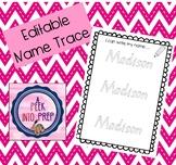 Editable Name Trace Sheet