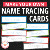 Editable Name Tracing Cards | Name Writing Activities for Preschool and Pre-K